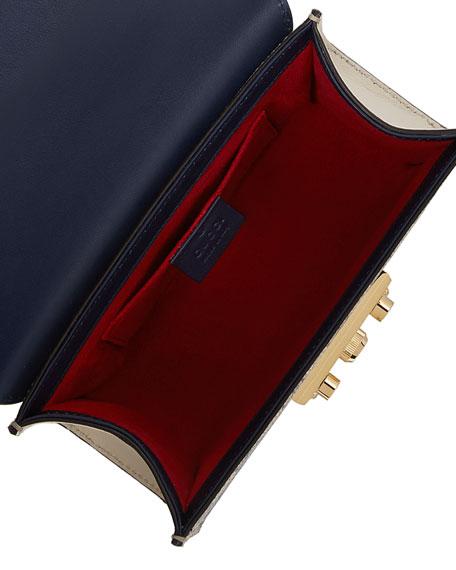 Padlock GG Supreme Small Shoulder Bag, Blue