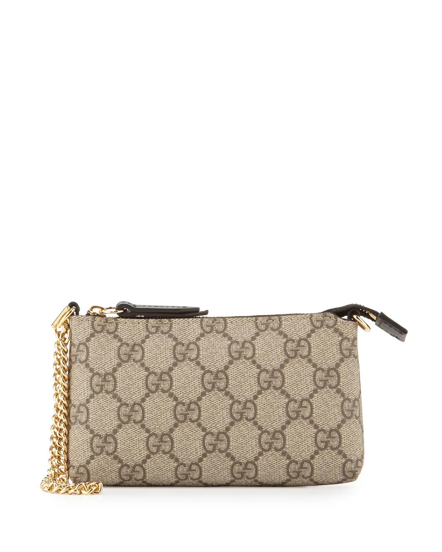 53f0c21328d Gucci GG Supreme Mini Chain Bag