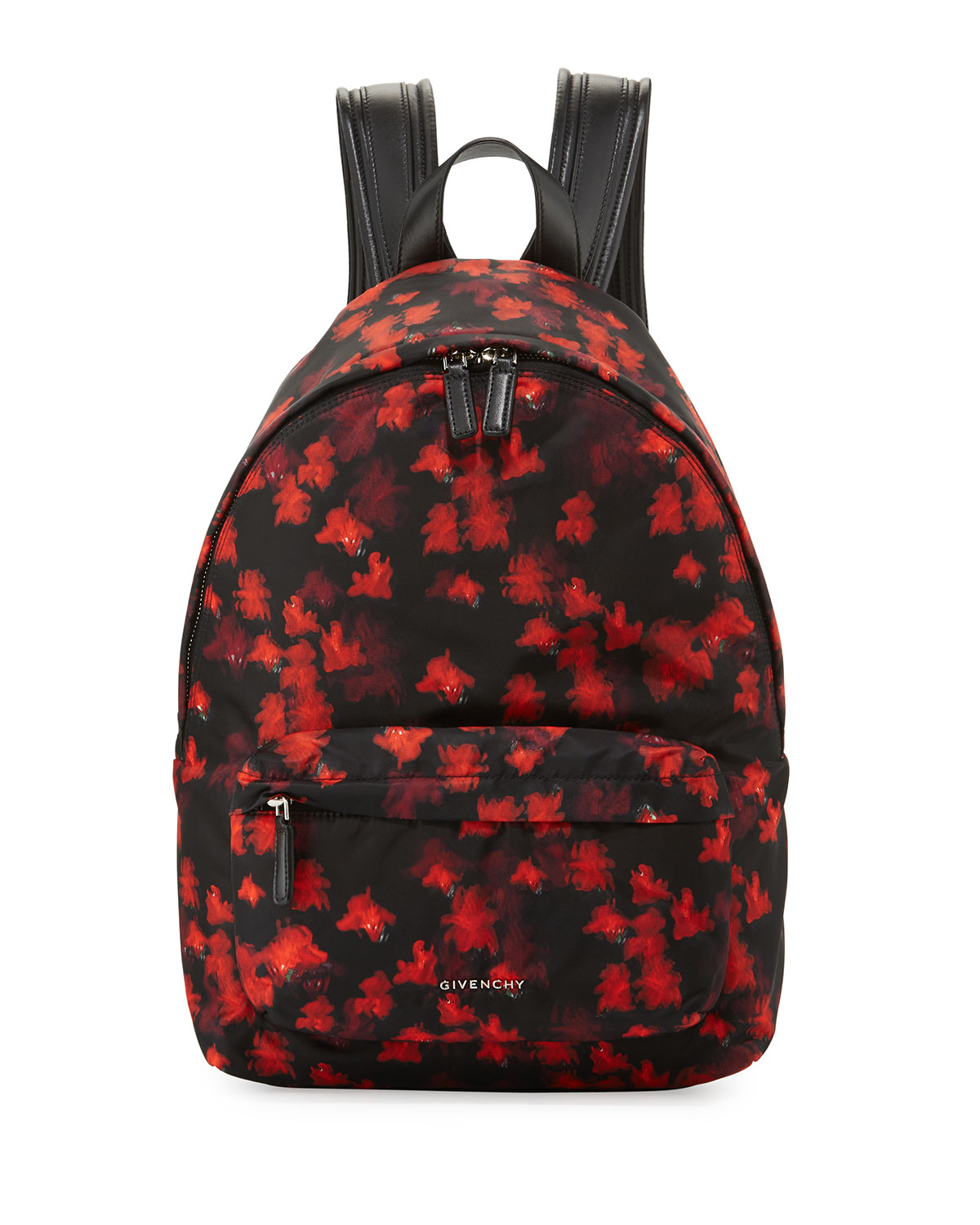 2c3d4f7e6d Givenchy Small Floral-Print Nylon Backpack