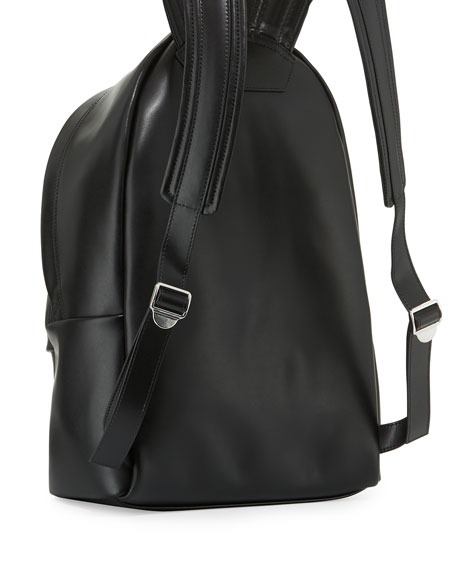 Small Love Leather Backpack, Black/Red