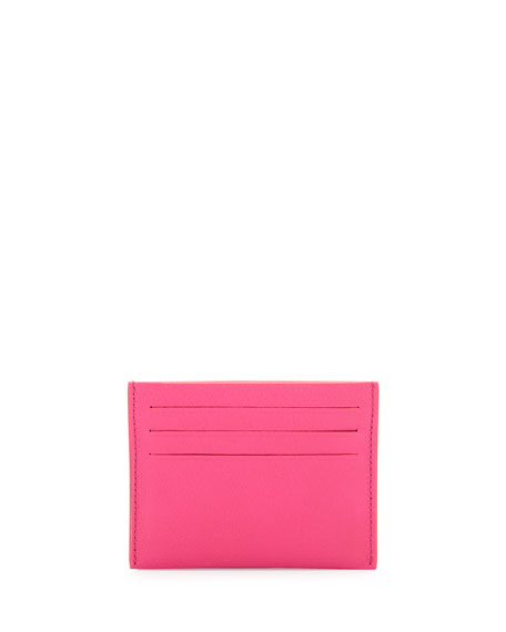 Pandora Leather Card Holder, Pink