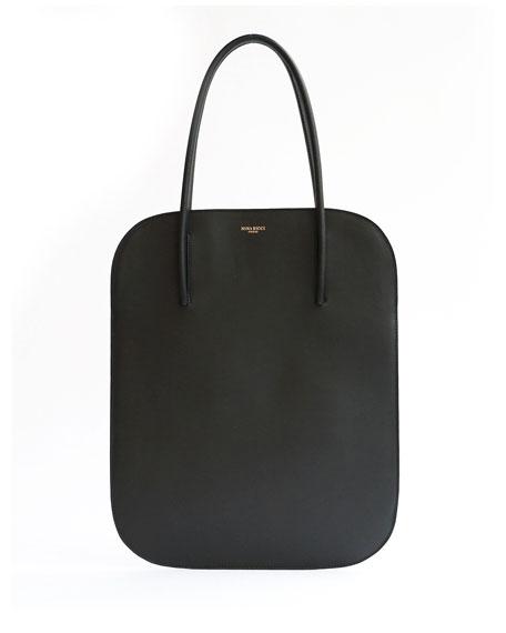 Irrisor Oval Medium Flat Tote Bag, Black
