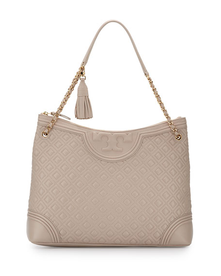 Tory Burch Fleming Quilted Leather Tote Bag, Bedrock | Neiman Marcus : tory burch quilted - Adamdwight.com