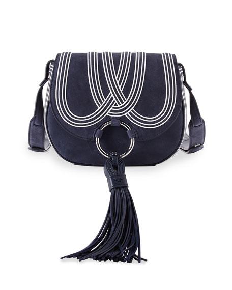 ec866a743d9 Tory Burch Tassel Mini Leather Saddle Bag