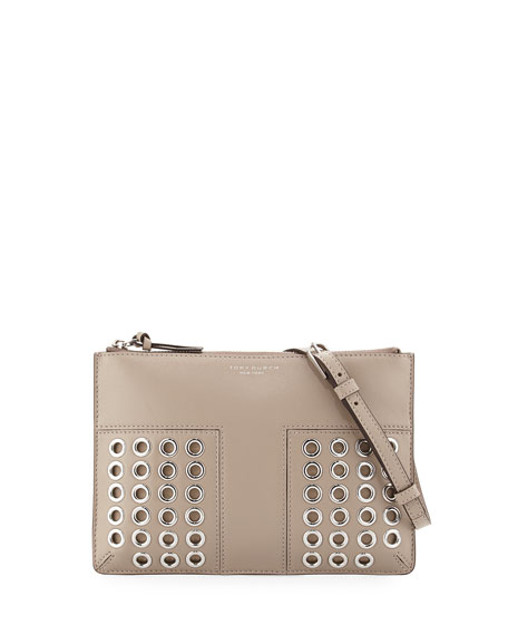 Tory BurchBlock-T Grommet Mini Crossbody Bag, French Gray