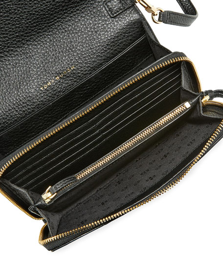 Harper Flat Wallet Crossbody Bag Black