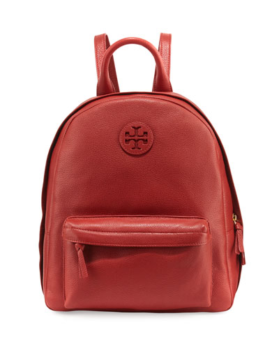 Zip-Around Leather Backpack, Light Redwood