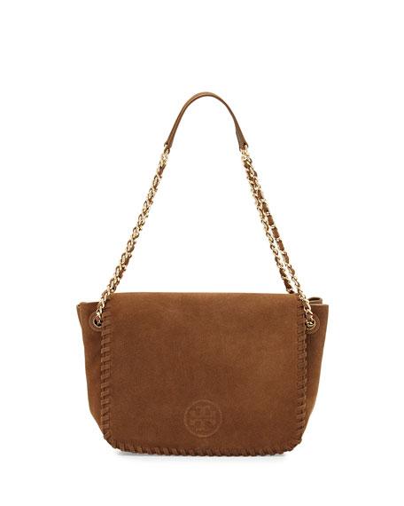 eaf16540c4f Tory Burch Marion Small Suede Flap Shoulder Bag