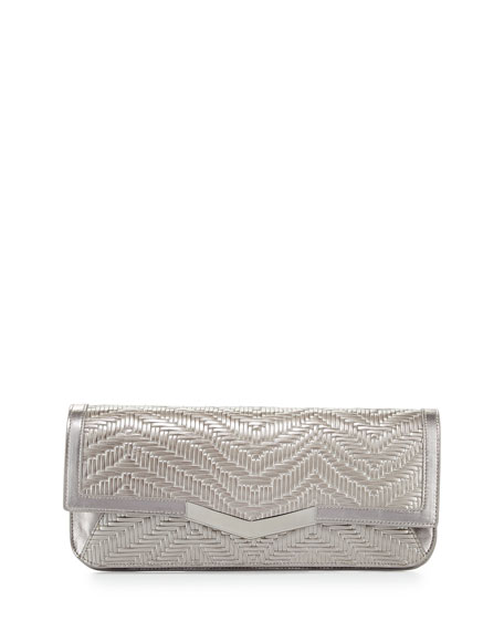 Time's Arrow Gya Woven Envelope Clutch Bag, Aurora