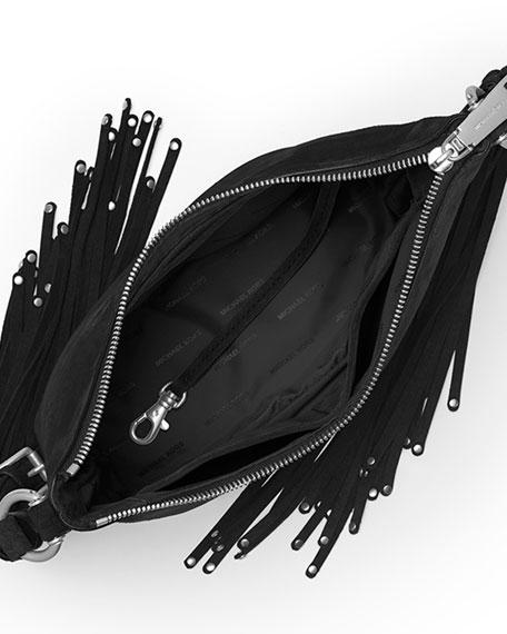b99e40aae46ae8 MICHAEL Michael Kors Billy Medium Fringe Messenger Bag, Black
