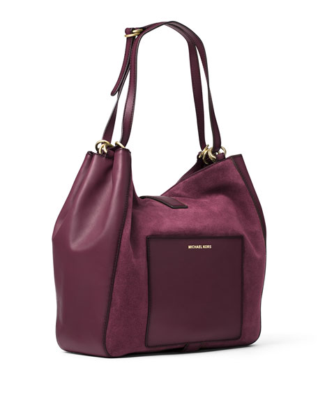Quincy Large Shoulder Bag, Plum