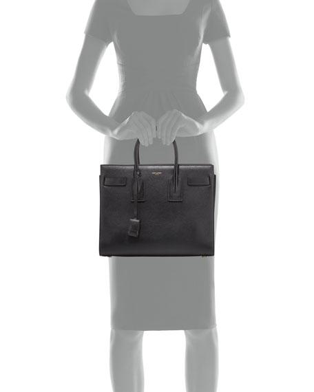 Sac de Jour Small Leather Satchel Bag, Black