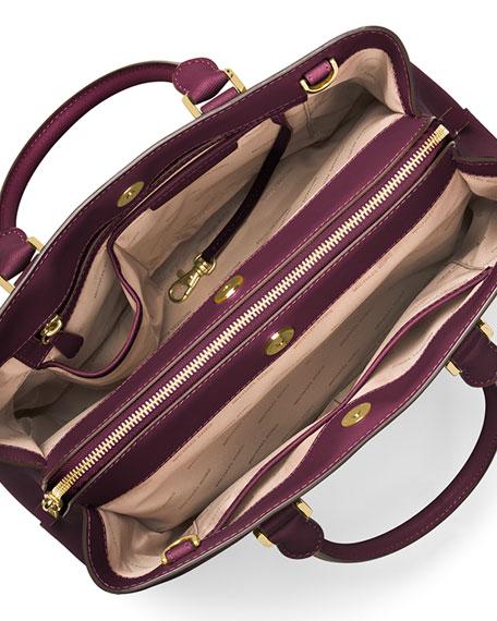 b37f3b71d0ae17 MICHAEL Michael Kors Savannah Large Saffiano Satchel Bag, Plum