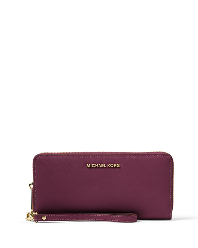 Jet Set Travel Continental Wallet, Plum