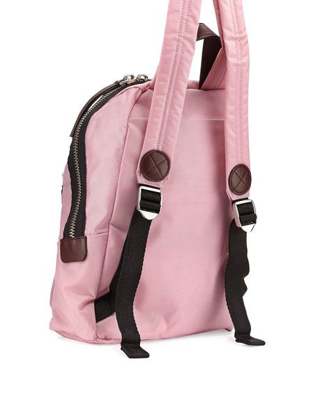 Nylon Biker Mini Backpack, Pink Fleur