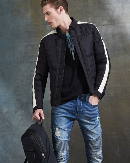 Rummage Embellished Backpack, Black