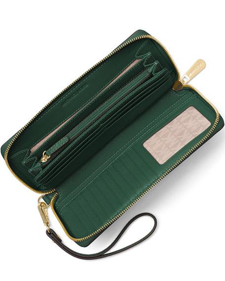 Jet Set Travel Continental Wristlet Wallet, Moss