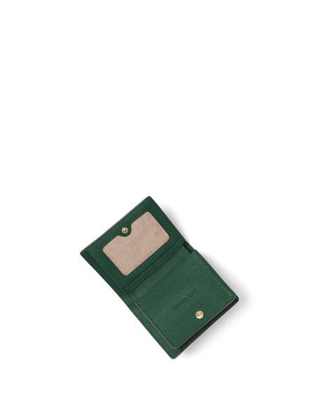 Jet Set Travel Saffiano Carryall Card Case, Moss