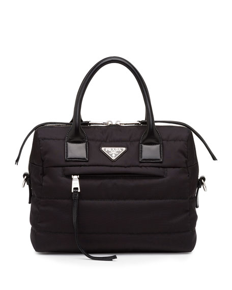 Prada Medium Tessuto Bomber Double-Handle Satchel Bag