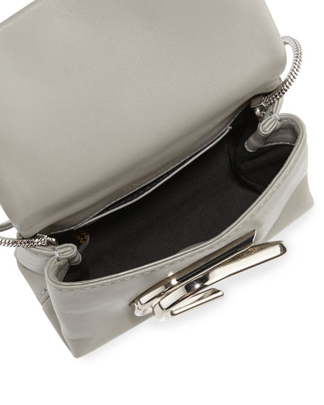 Image 2 of 4: Alix Micro Leather Crossbody Bag, Cement
