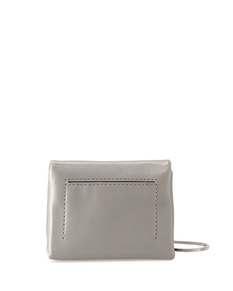 Image 3 of 4: Alix Micro Leather Crossbody Bag, Cement