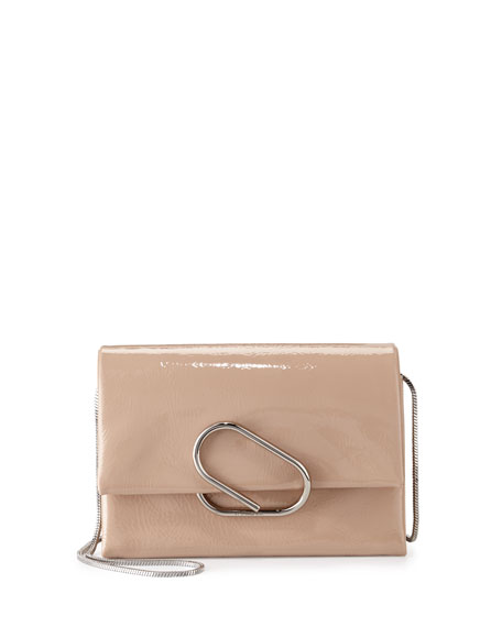 Alix Soft Flap Clutch Bag, Ceramic
