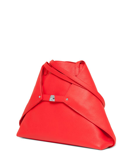 Ai Medium Soft Leather Tote Bag, Scarlet