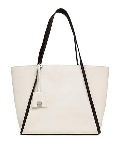 Alex Medium Leather Tote Bag, Olive