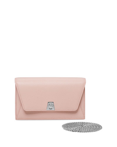Anouk Leather Envelope Wallet-on-Chain, Pale Rose