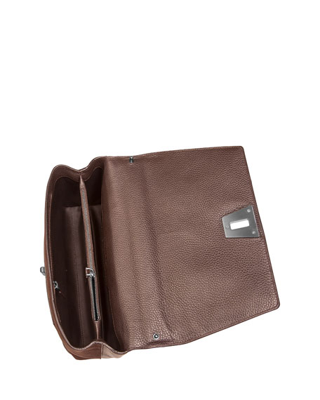 Anouk Day Ostrich & Leather Shoulder Bag, Mocha