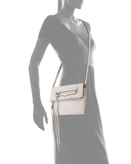 Regan Small Leather Clutch Bag, Putty