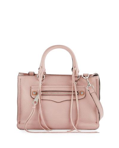 Regan Micro Leather Satchel  Bag, Vintage Pink