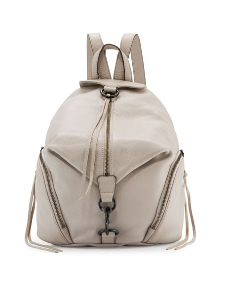 Julian Leather Backpack, Putty