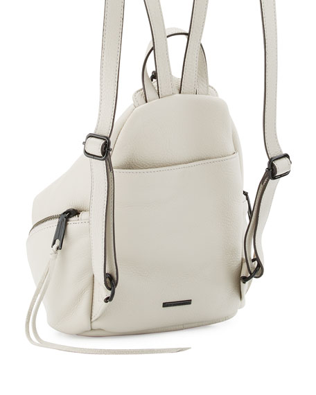Julian Medium Leather Backpack, Putty
