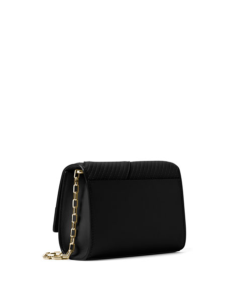 Michael Kors Yasmeen Small Quilted Leather Clutch Bag, Black ... : quilted leather clutch - Adamdwight.com