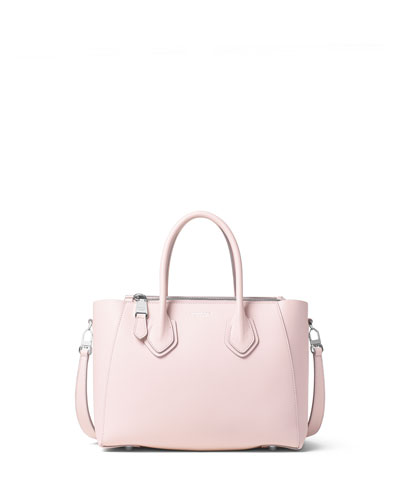 Helena Small Leather Satchel Bag, Cameo