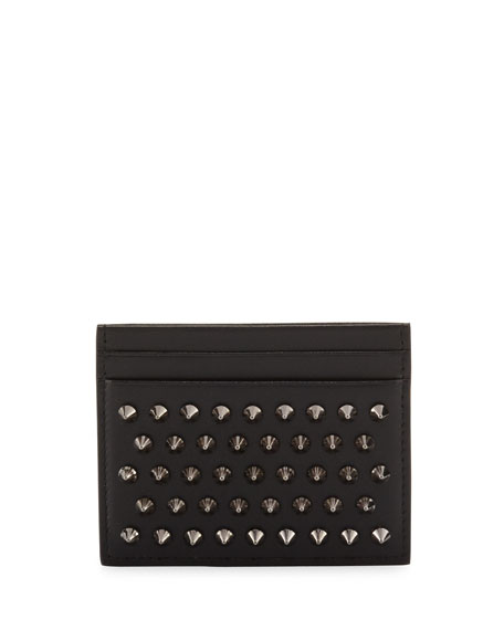 Christian Louboutin Kios Simple Card Holder, Black/Gunmetal