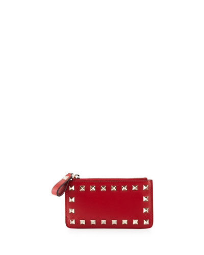 Rockstud Key-Ring Pouch, Red