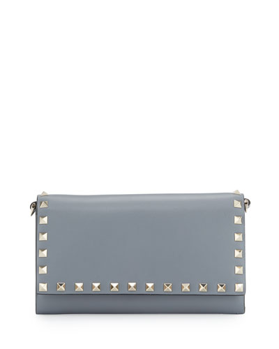 Rockstud Large Wallet-on-Chain, Gray