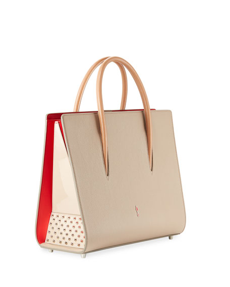 Paloma Large Triple-Gusset Tote Bag, Beige