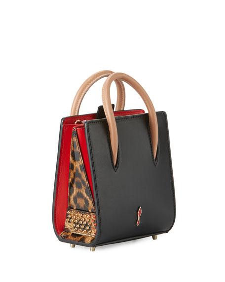 Paloma Nano Calf Tote Bag, Black/Brown