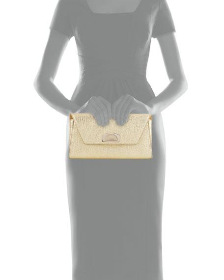 Vero Dodat Flap Clutch Bag, Gold