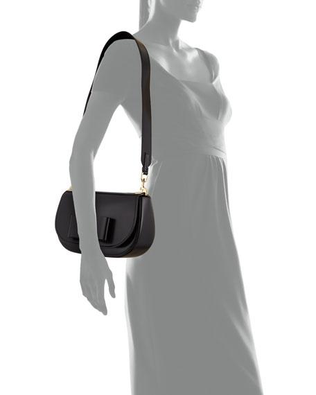 Leather Shoulder Bag, Black (Nero)