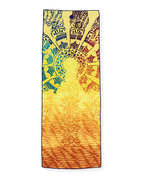 """Yoga Towel Chakra: Manduka Yogitoes 68"""" Yoga Mat Towel, Chakra"""