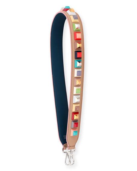 Strap You Studded Shoulder Strap for Handbag, Camel/Multi
