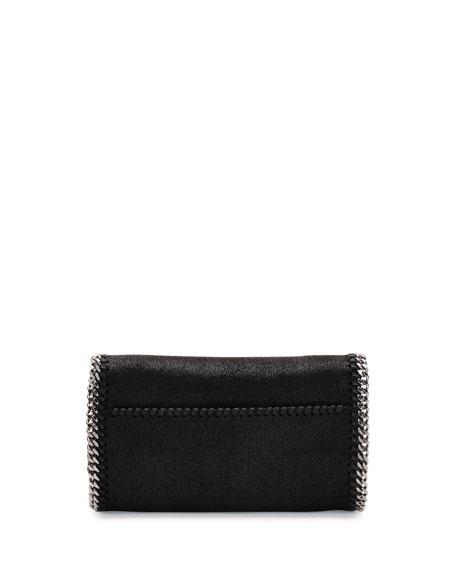 Falabella Jeweled Crossbody Clutch Bag, Black