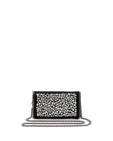Stella McCartney Falabella Jeweled Crossbody Clutch Bag, Black