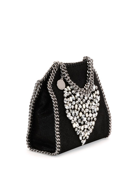 Falabella Tiny Heart Shoulder Bag, Black