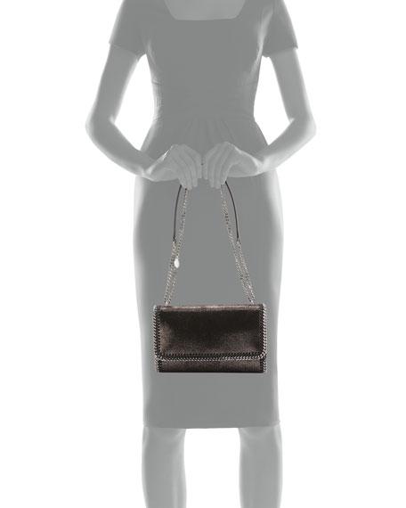 Falabella Convertible Crossbody Bag, Metallic Nude