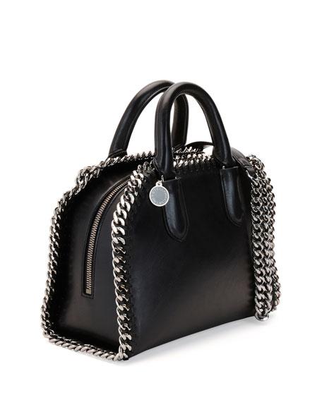 Falabella Mini Box Top-Handle Satchel Bag, Black